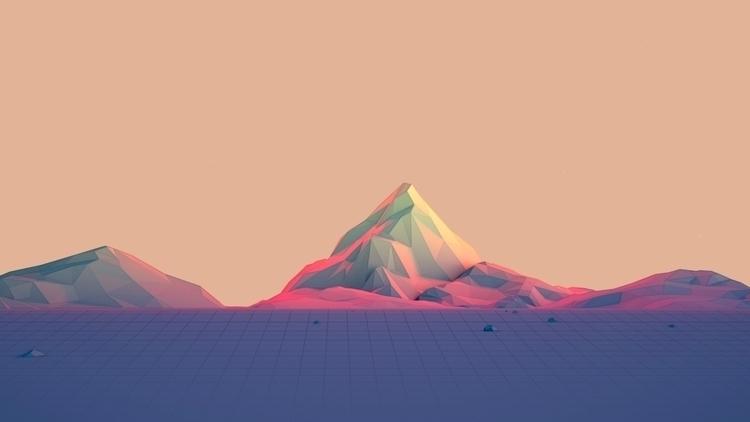 c4d, cinema4d, illustration, landscape - visualhuman | ello