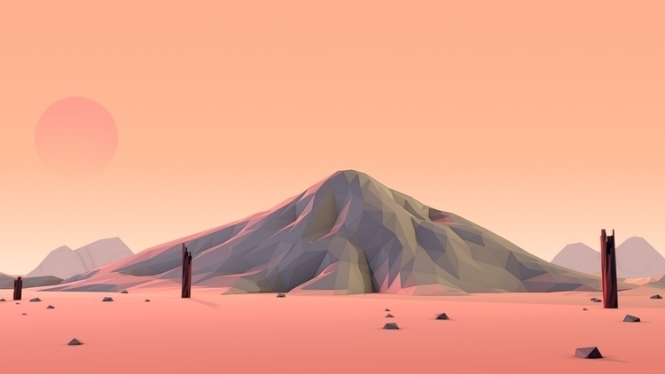 c4d, cinema4d, desert, mountain - visualhuman | ello