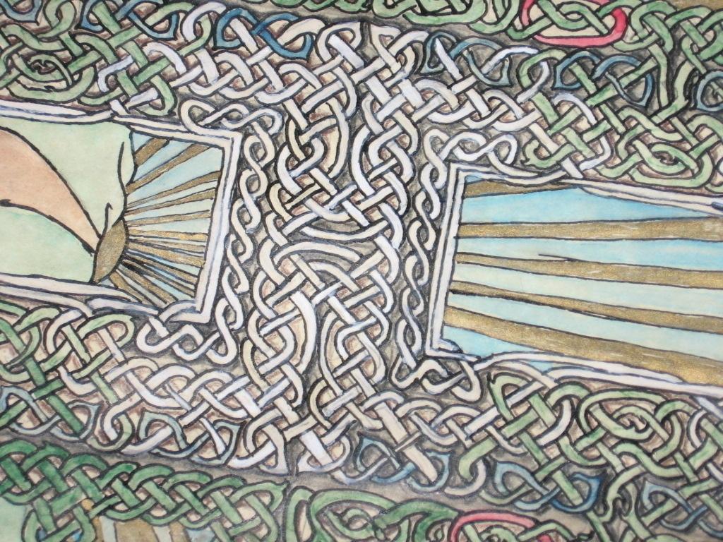 Detail, Sunrise Knotwork, pen w - crysodenkirk | ello