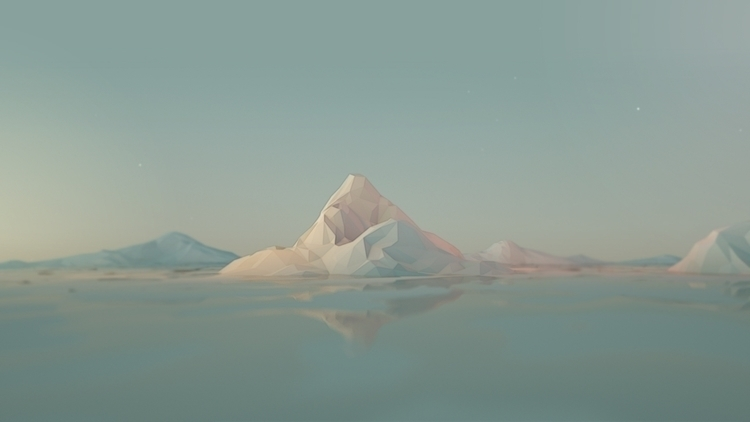 c4d, cinema4d, lowpoly, mountains - visualhuman | ello