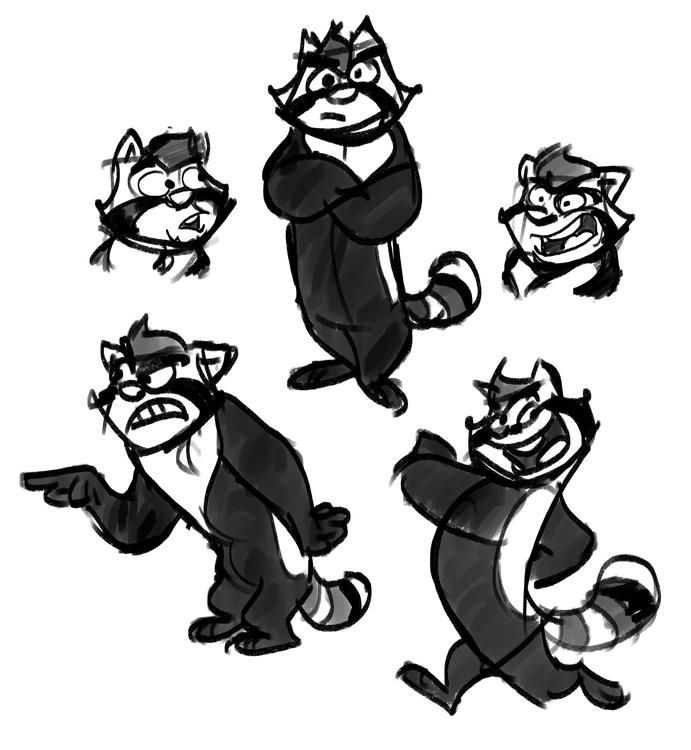 Pandas - sketches, digitalart - greevixor | ello