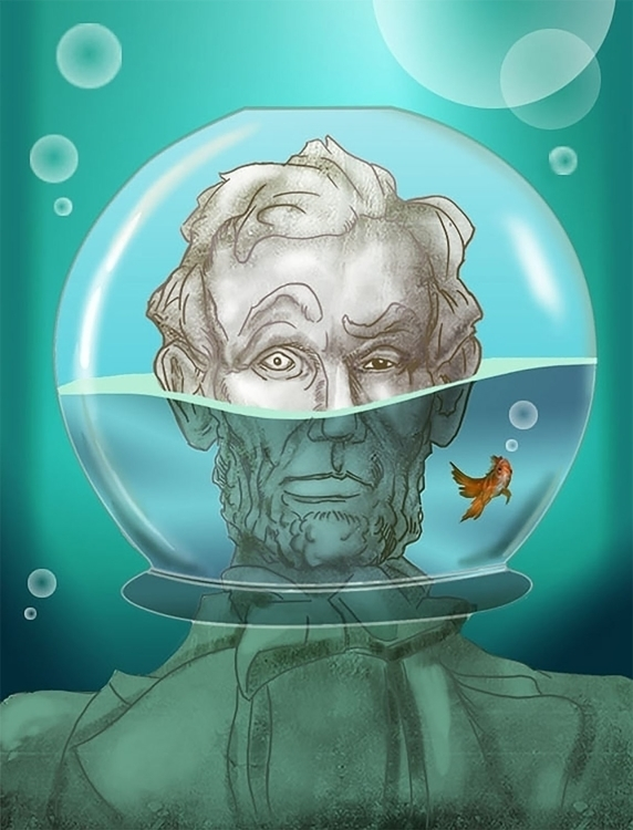 Lincoln Submerged - illustration - sdurand | ello