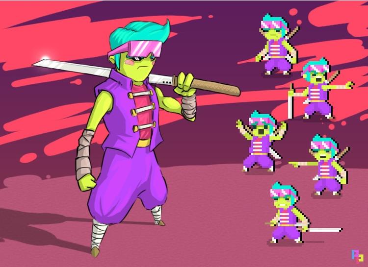 Character Design ~ concept pixe - planckpixels | ello