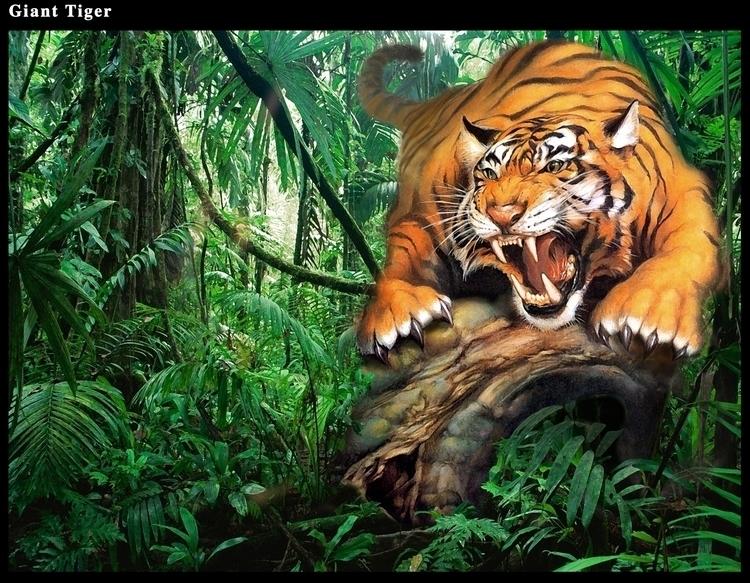Jungle Tiger - Green Screen Bac - rpoling | ello