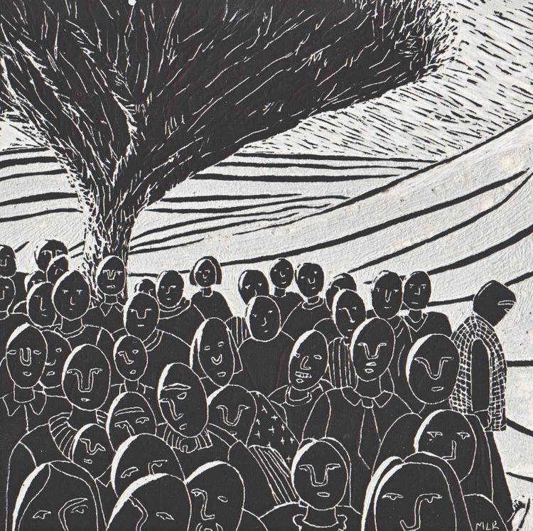 illustration, scraperboard, tree - marikeleroux | ello