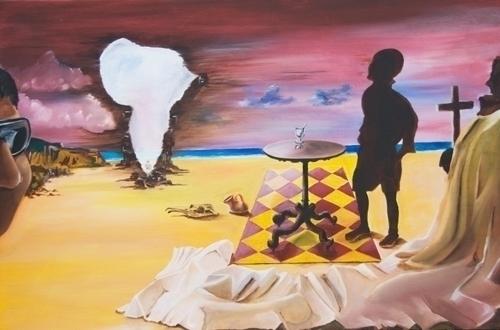 Africa Waits - painting, africa - lavott | ello