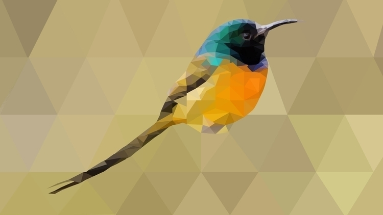 poly art - bird - lowpoly, animal - ohitsjammm | ello