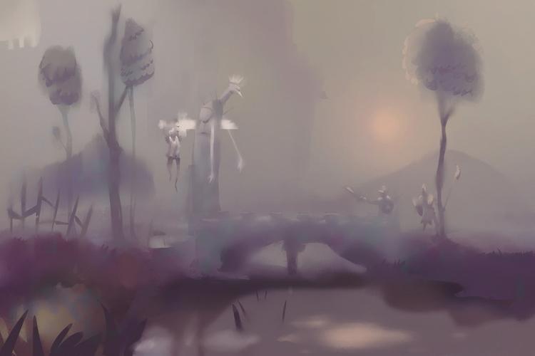 fantasy, medieval, cartoon, environment - brokemypencil | ello