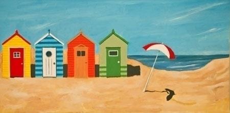 Beach Huts - beach, beachhuts, sea - lavott | ello