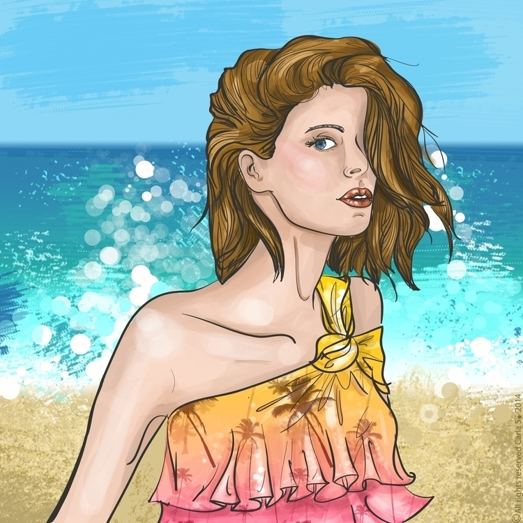 bluewaves - illustration, fashion - carla_s | ello