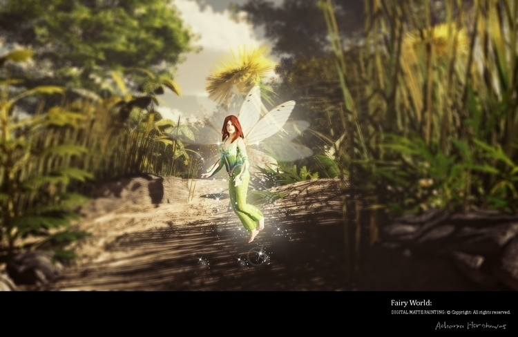 Fairy World - illustration, environment - acharyapolina | ello