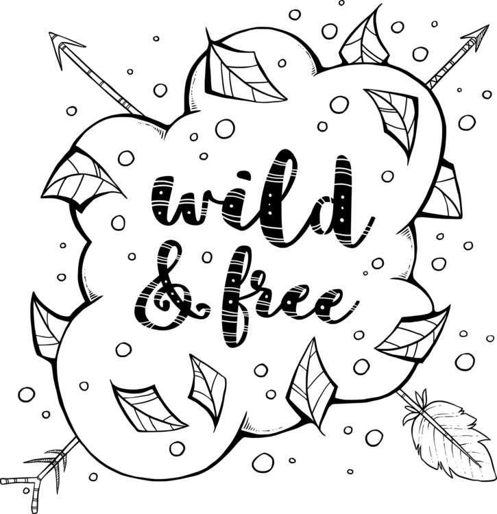 Wild Free - black white print i - zita-3948 | ello