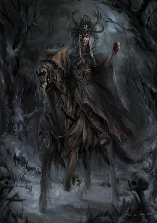 Witch black forest - illustration - damroka | ello