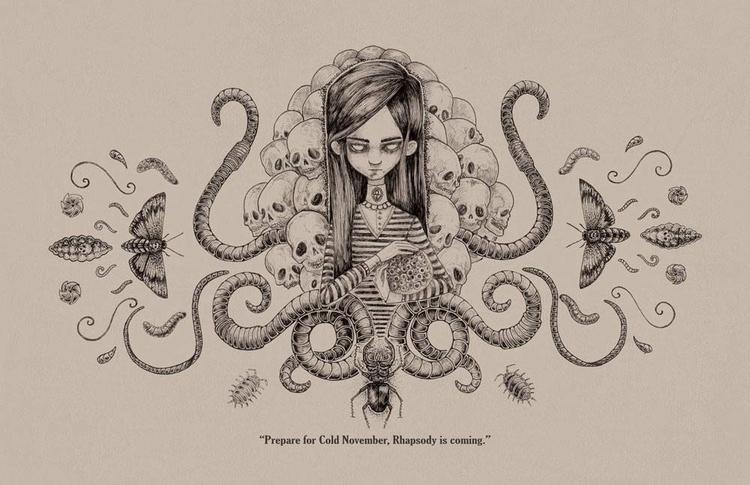 illustration, drawing, environment - araxlecter | ello
