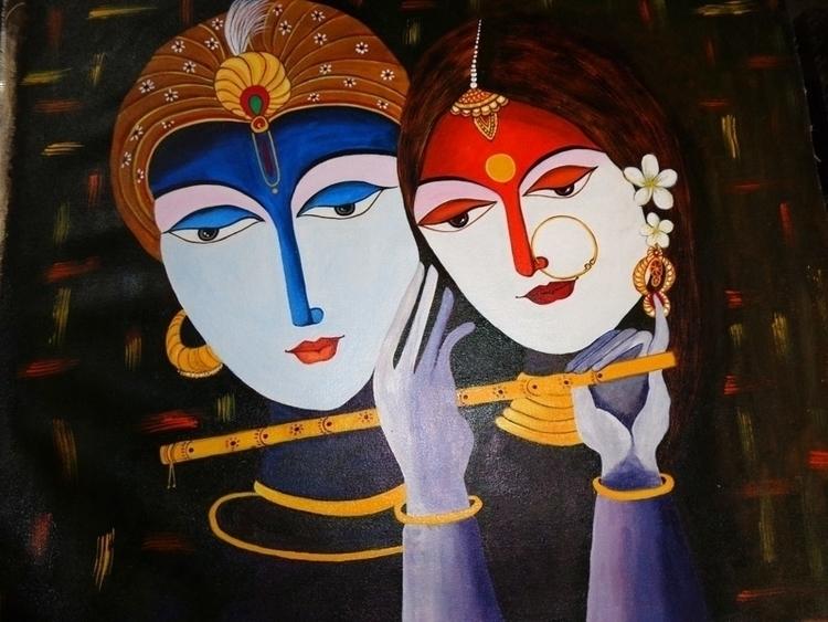 Krishna Radha - Original acryli - neeruart   ello