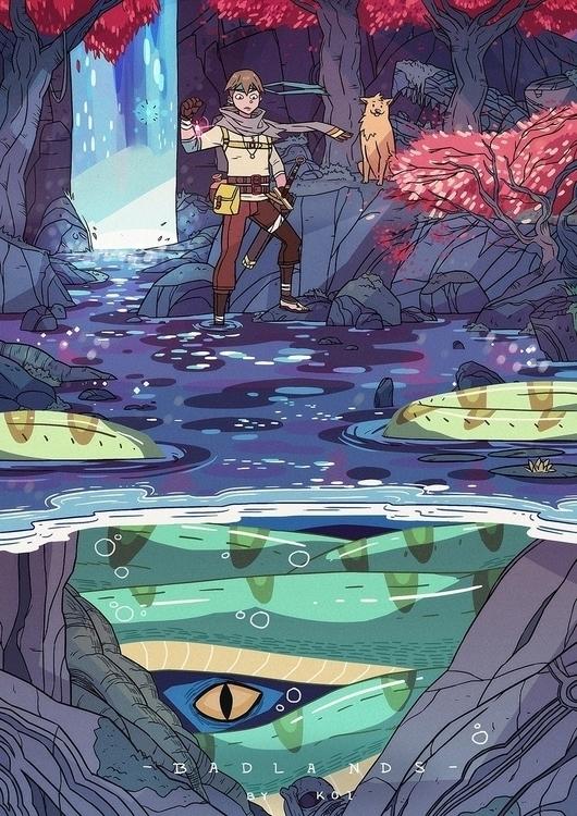 Trouble beneath - illustration, art - koi-9979 | ello