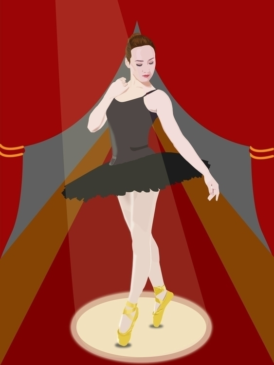 Ballerina - illustration - nvndesigns | ello