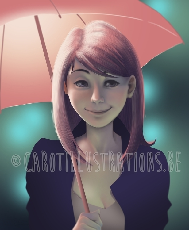 Umbrella - digitalillustration, digitalpainting - carotillustrations | ello