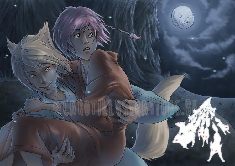 White Foxes - digitalillustration - carotillustrations | ello
