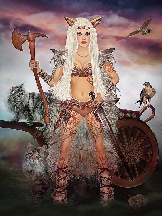 Freya - illustration - korana   ello