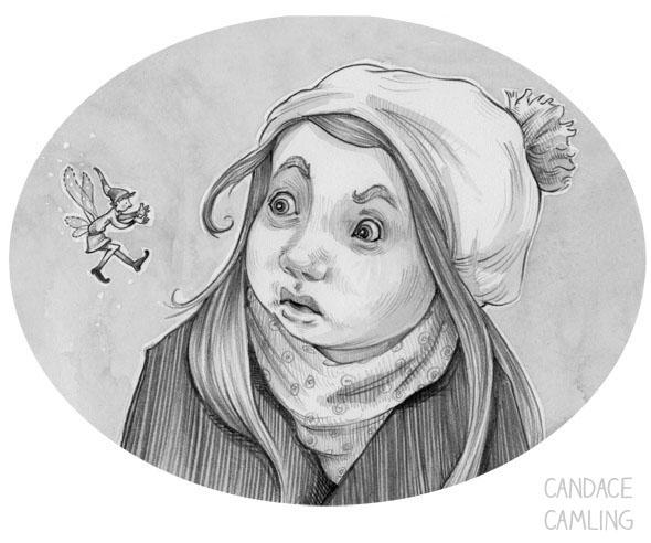 2014 - fairy, graphite, tween, blackandwhite - candacecamling | ello
