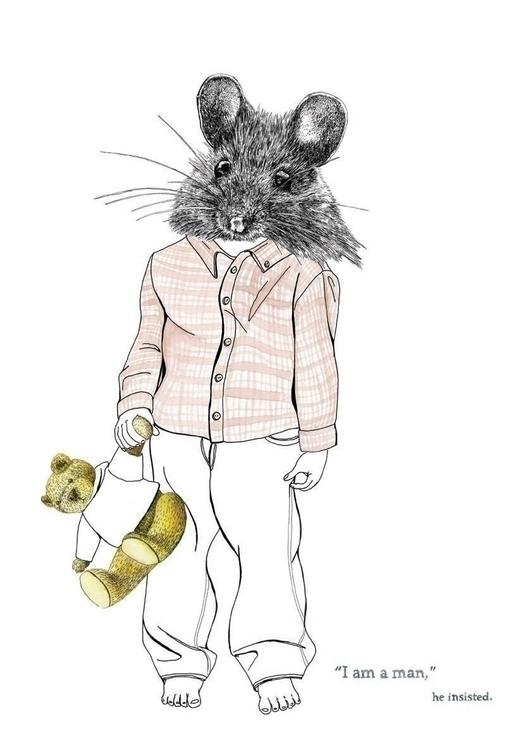 Man Mouse - illustration, penink - marikeleroux | ello