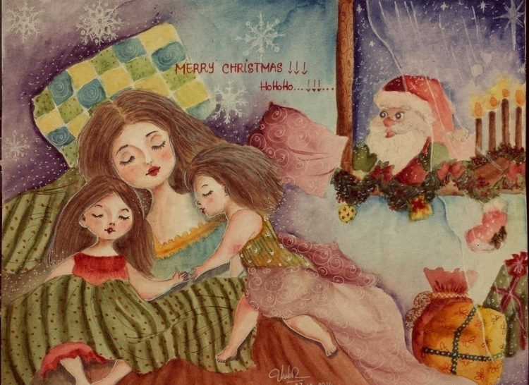 Peaceful Christmas - illustration - moonyhang | ello