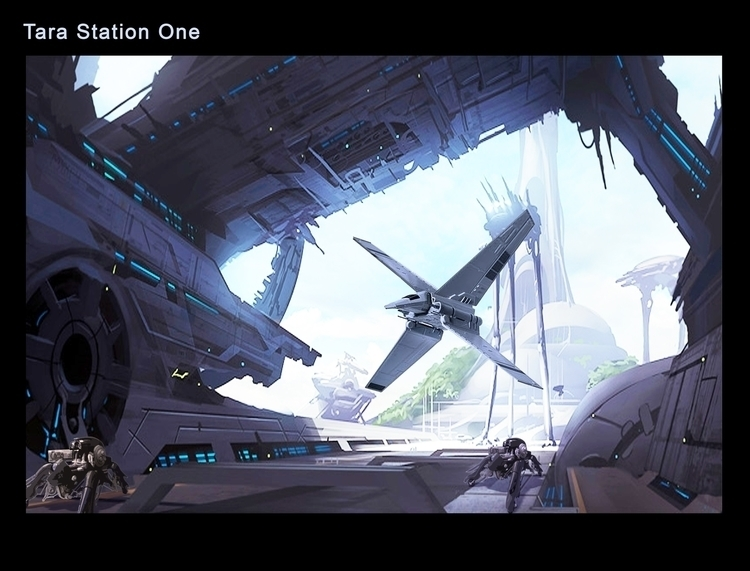 Tara Station - Digital Painting - rpoling | ello