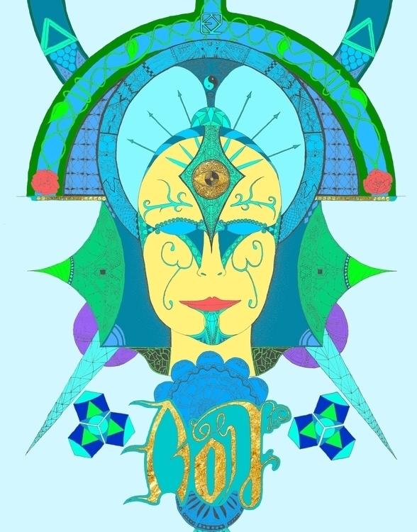 Enlightened - illustration, drawing - dejvidknezevic   ello