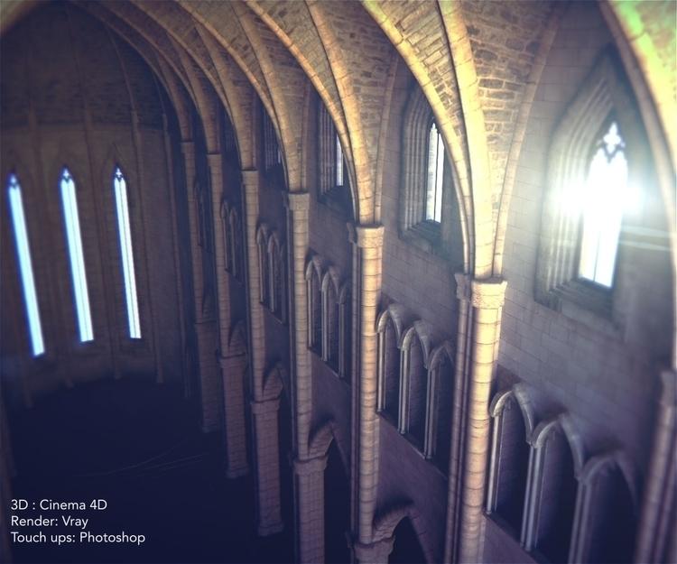 Cathedral Cinema 4D Vray. Post  - nemo276-8868 | ello