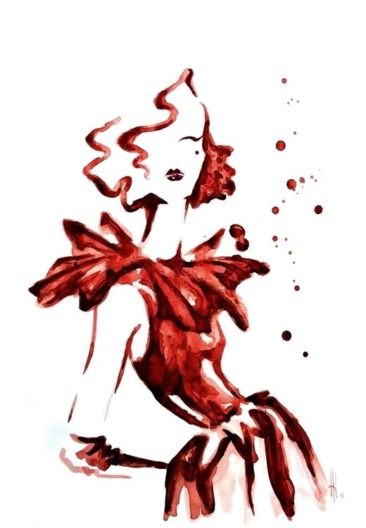 Fashion illustration - Rose - fashionillustration - henrieke-4064 | ello