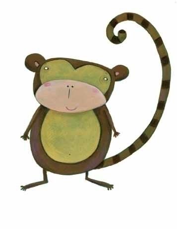 Scimmietta - illustration, monkey - francescaassirelli | ello