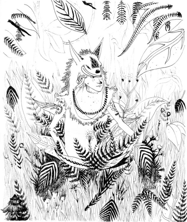 Ink paper - ink, illustration, mask - sarahm-4841 | ello