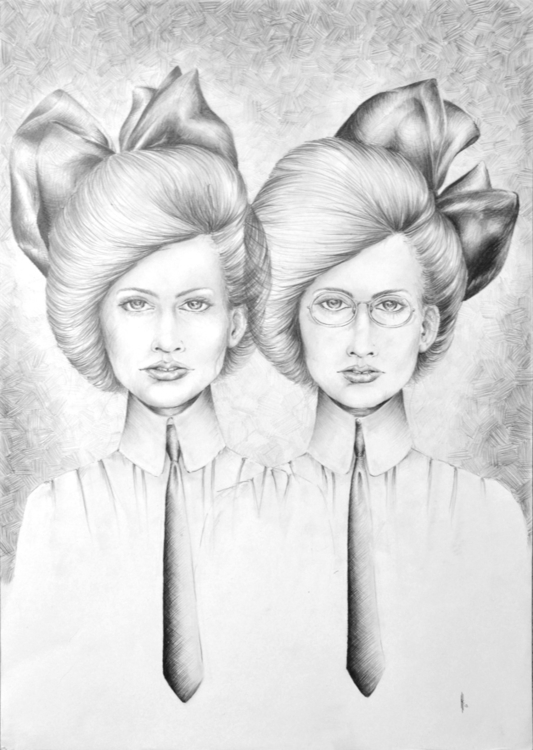 Twins- series pencil drawings i - henrieke-4064 | ello