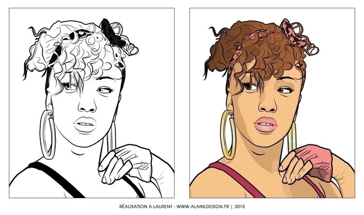 Nesly - digitalart, illustration - alainldesign | ello