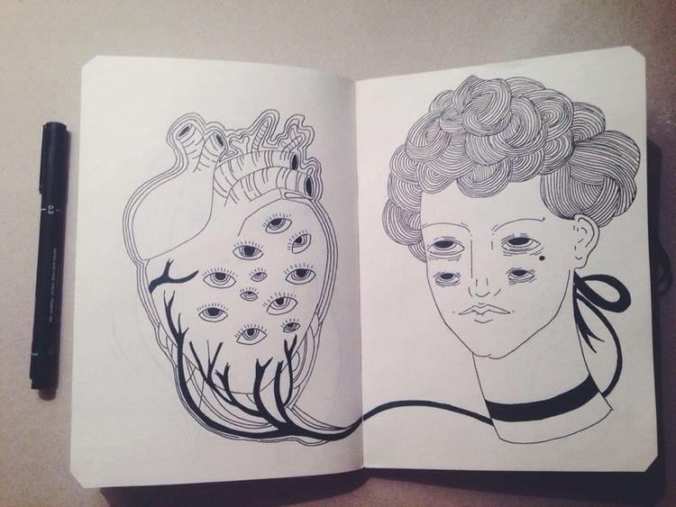 illustration, penink, ink, lineart - alinav-3329 | ello