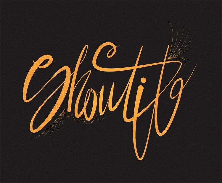 SHOUT - shout, typography, yellow - artyp | ello