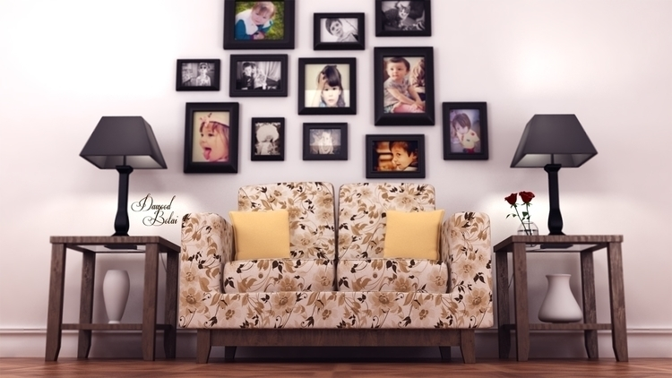 Gallery Wall - 3d, 3dmax, vray, photoshop - dawood-3963 | ello