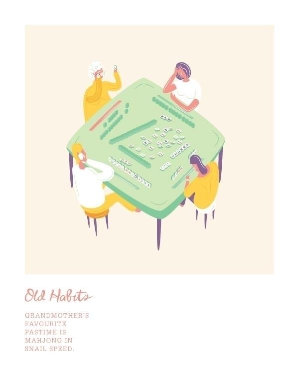 favourite pastime mahjong snail - noonmoon | ello