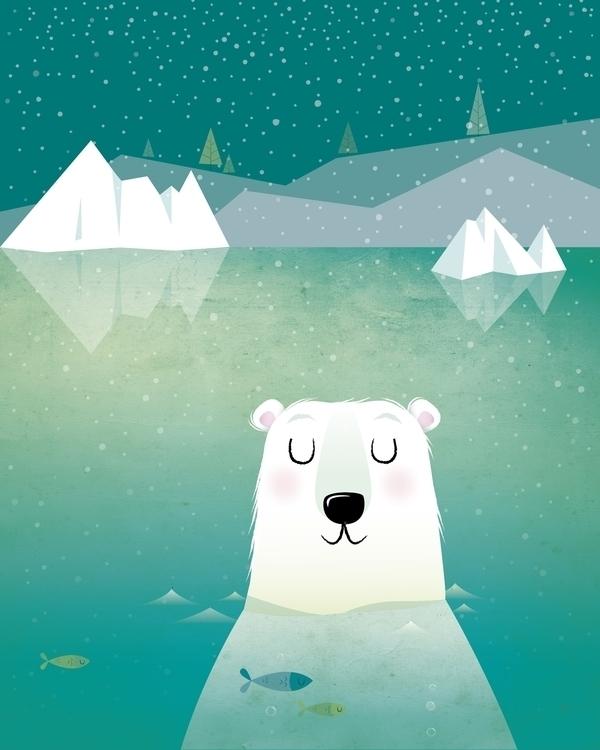 Polar bear - illustration, characterdesign - irenegough | ello