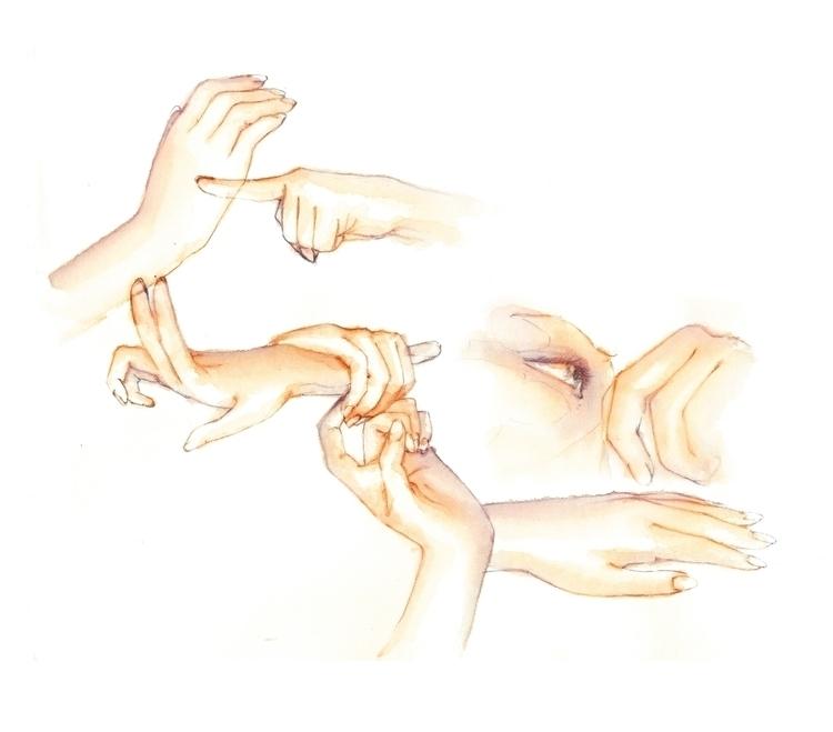 Aquarela Devaneios - sinum, watercolor - adrianastolfi | ello
