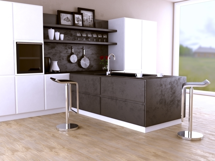 Kitchen - 3d, 3dmax, vray, interior - dawood-3963 | ello