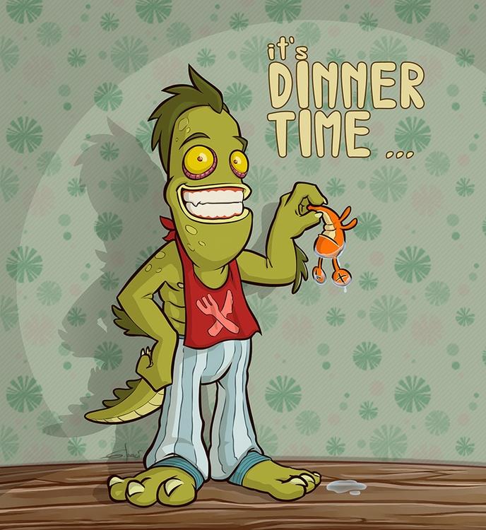 Dinner Time - monster, seamonster - sarcix | ello