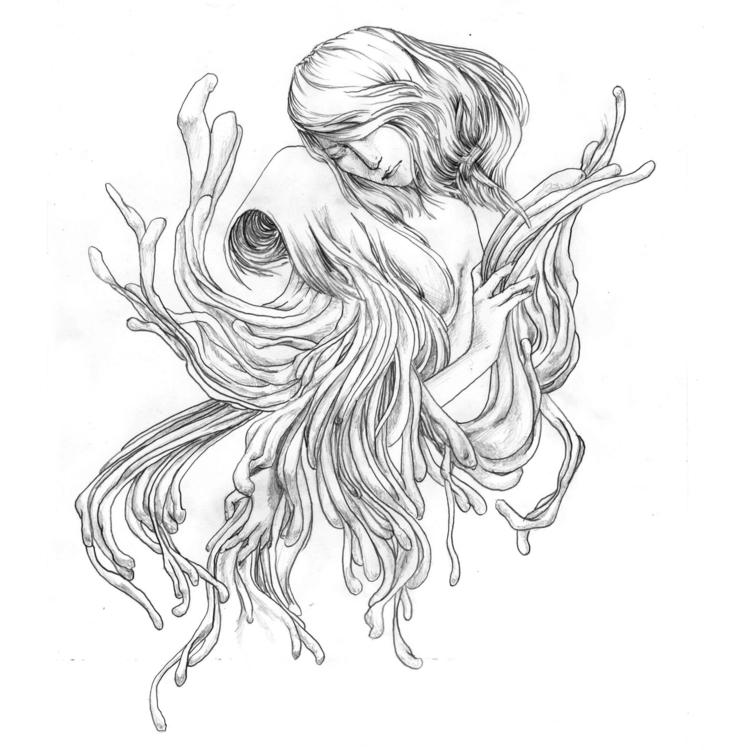 pencil drawing - sinum, draw - adrianastolfi | ello