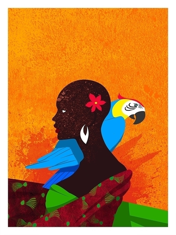 'Carribean - illustration, painting - agent23-5248 | ello