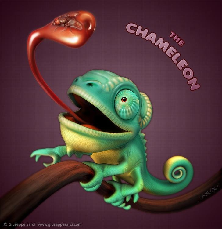 Chameloen - chameleon, animals, animal - sarcix | ello