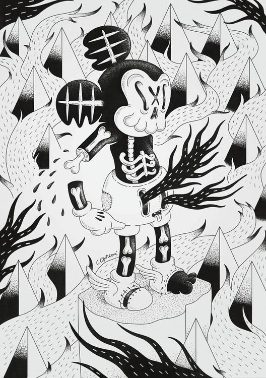 Freackey Mouse - freak, freaky, cartoon - cote-1413 | ello