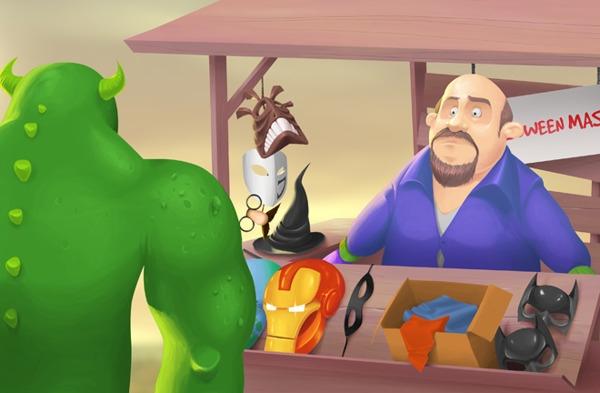 Halloween surprise - cartoon, digitalpainting - adamlapko | ello