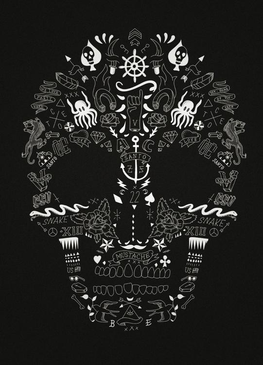 Skull - Oldskull, skull, tattoo - cote-1413 | ello
