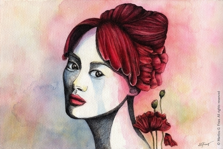 Je Ne Sais Quoi - painting, ink - mgfrias | ello